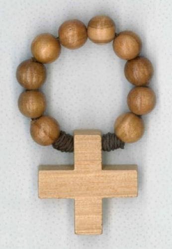 Bel-Art - tientje ring olijfhout