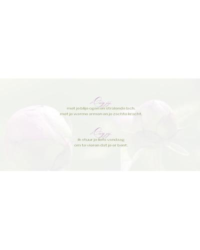 Kaart Ka-art - K605 Gelukkige verjaardag (bloemkno