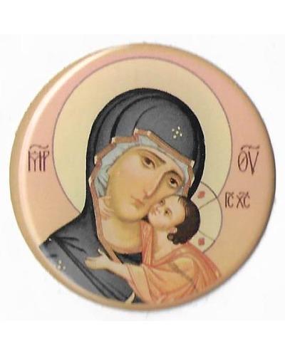 Minsk - Sticker Onze Lieve Vrouw met Kind - rond